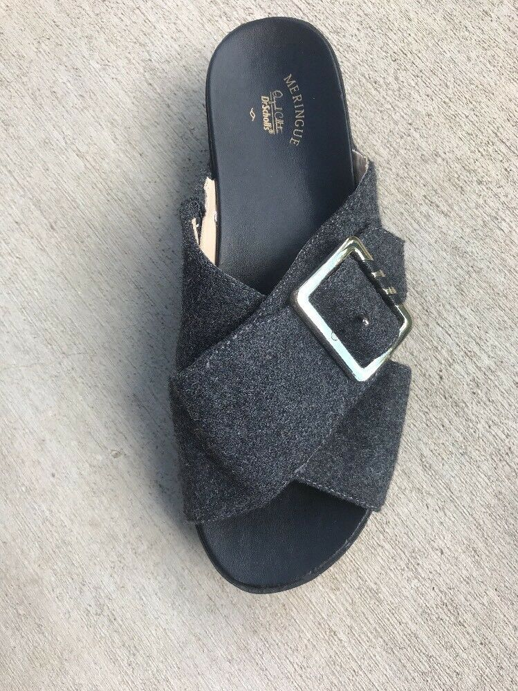 4df6e096d977 Details about Dr Scholls Meringue Collection Flight Size 6.5 Gray Wool Wedge  Comfort Sandals