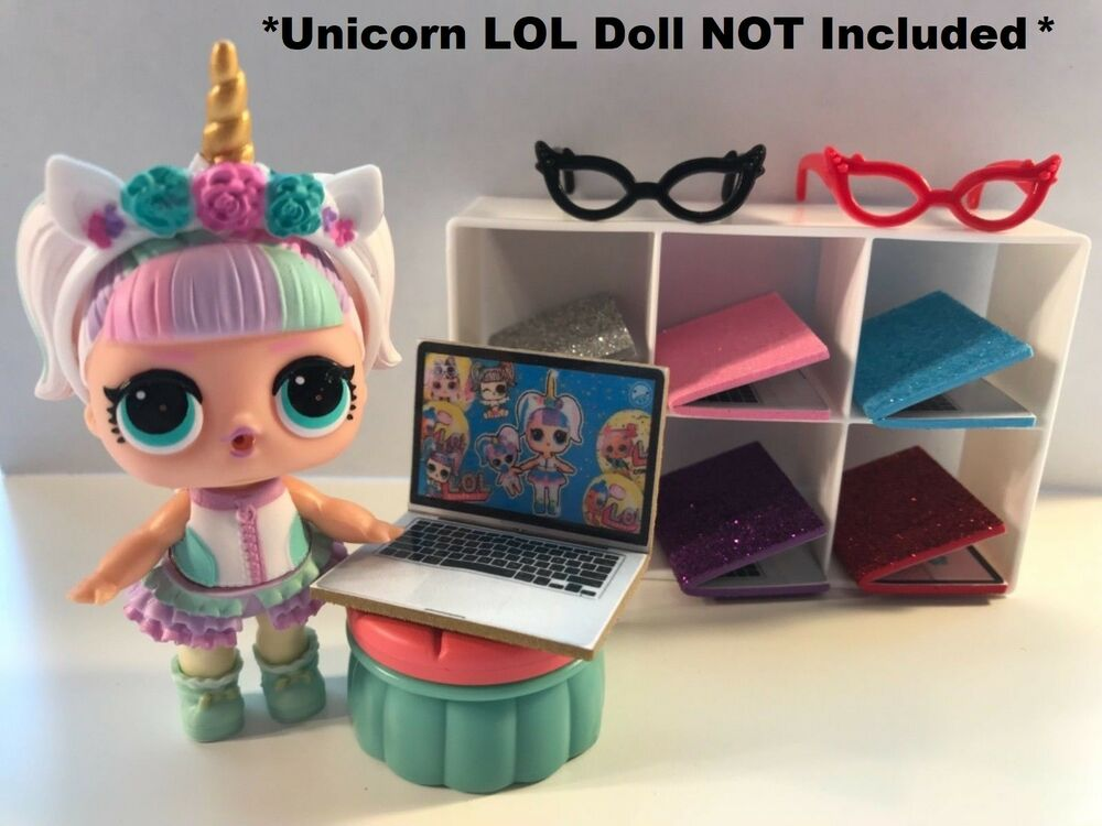 09540f9524a0a Details about LOL SURPRISE Dolls CUSTOM 3 PC Laptop Glasses ACCESSORIES -  Unicorn not included