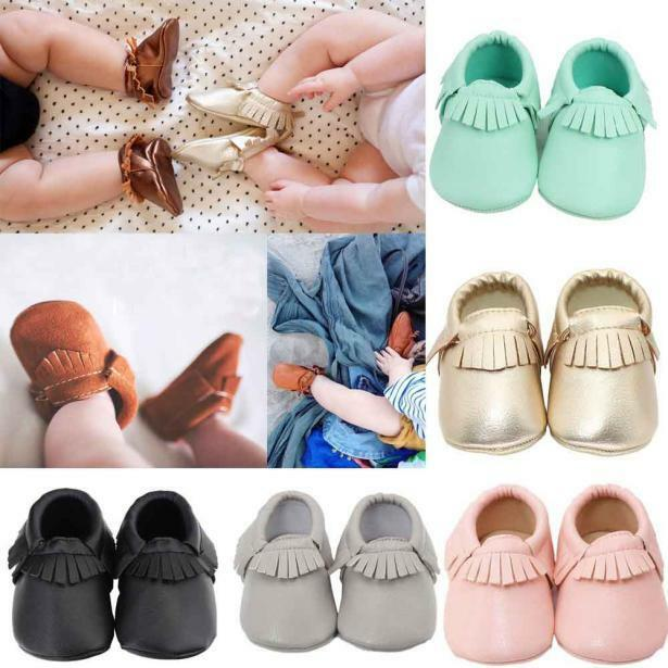 ce98e80a358ef Details about Infant Toddler Baby Infant Boys Girls Tassel Soft Leather  Shoes Sneakers 0-18M