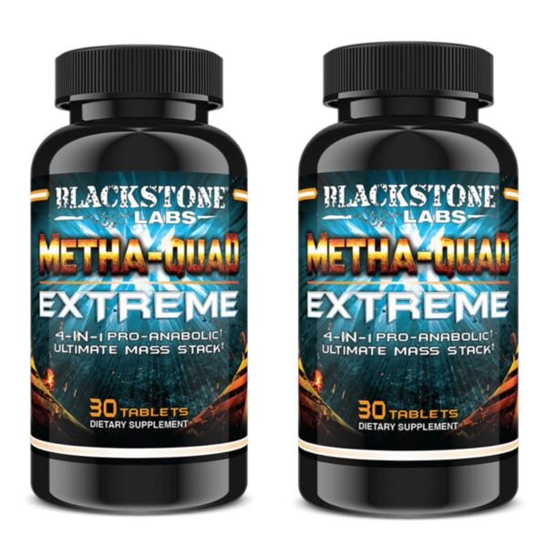 Blackstone Labs Metha Quad Extreme 4 in 1 Ultimate Mass Stack 2 Pack!