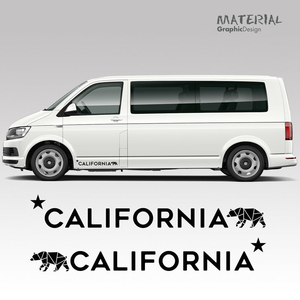 f04bcaf6c4 Details about Volkswagen VW Side Stripes Decal Transporter T4 T5 T6  California Vehicle Graphic
