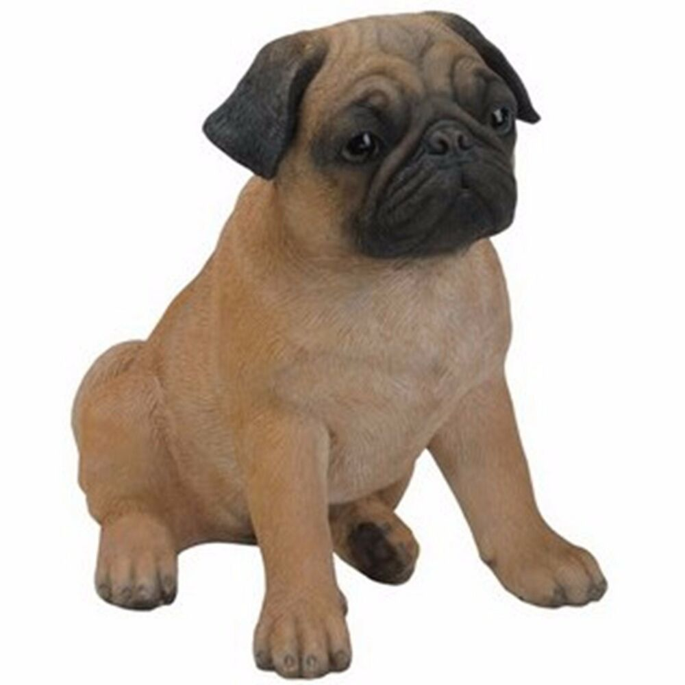 Details about NEW BROWN PUG Dog Figurine -Life Like Figurine Statue Home    Garden 7b8c86cfab77