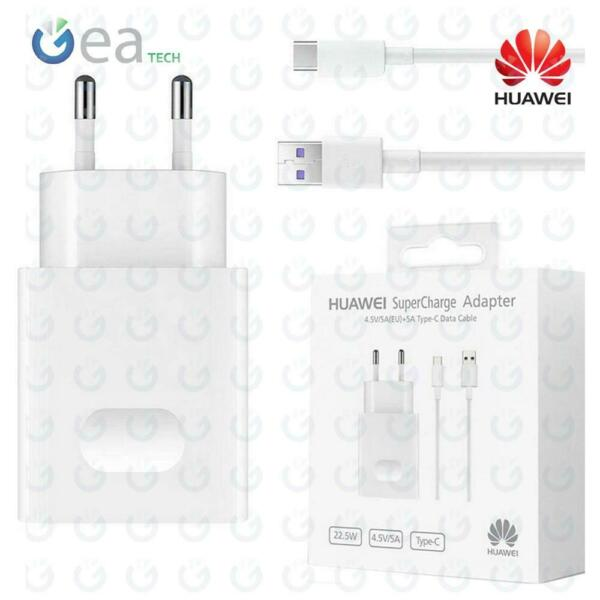 Caricabatterie Originale Huawei AP81 SUPERCHARGE 5A Per P30 P30 Pro Cavo Type-C