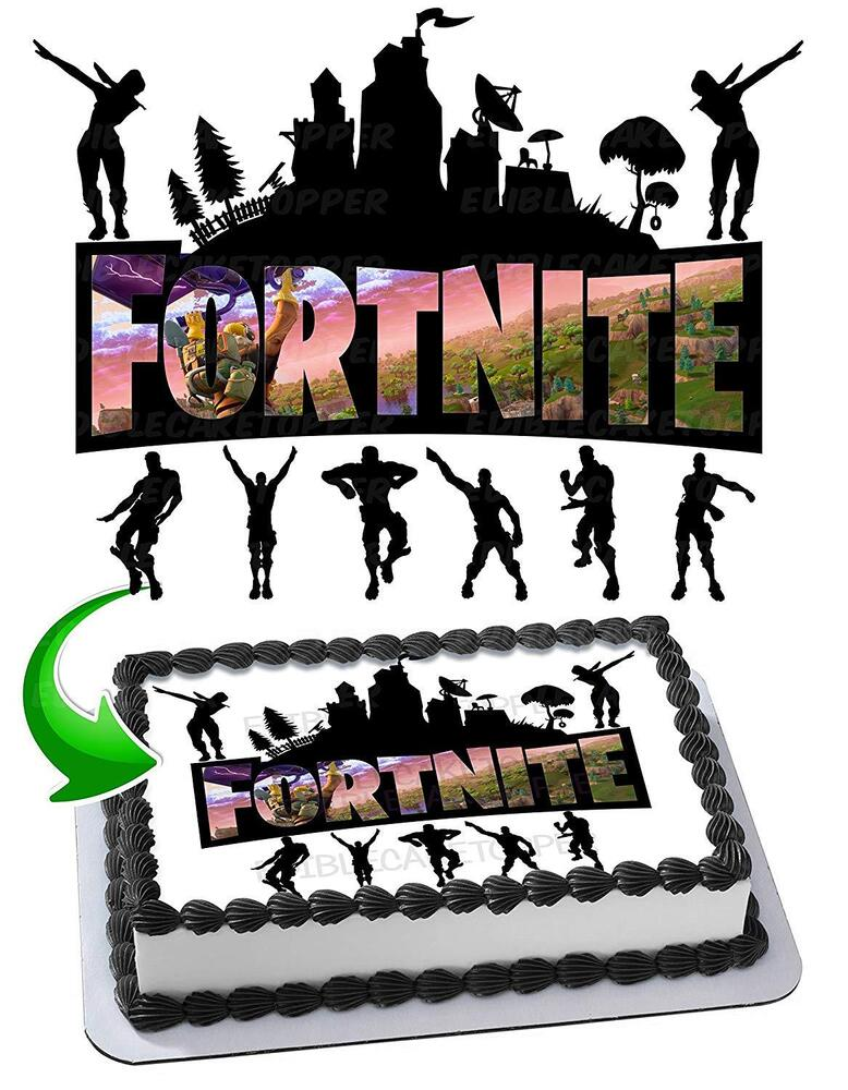 Fortnite Battle Royale Edible Cake Image Cake Topper Icing ...