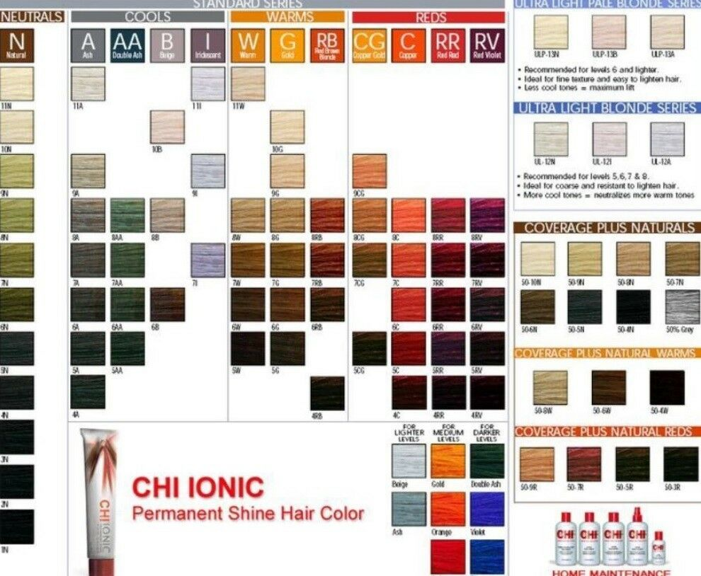 Choose Your Color Chi Ionic Permanent Shine Hair Color Ammonia Free