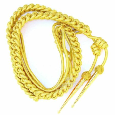 img-British Army Aiguillette Gold Wire Cord/US Military Officer Aiguillett/Navy/WWII