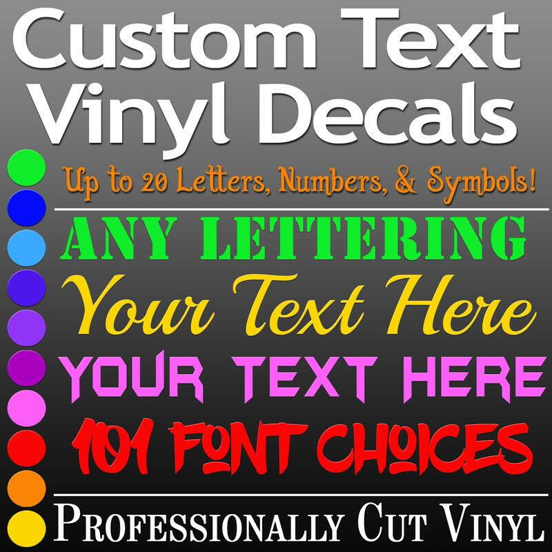 custom text vinyl lettering decal personalized sticker wall window