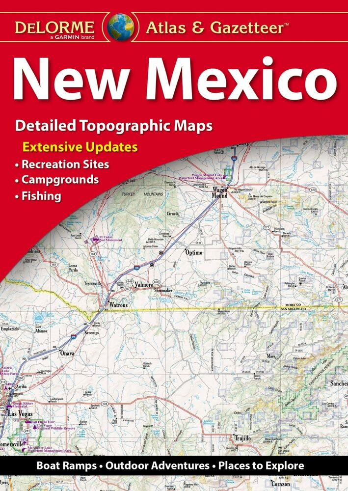 New Delorme New Mexico Nm Atlas And Gazetteer Topo Road Map