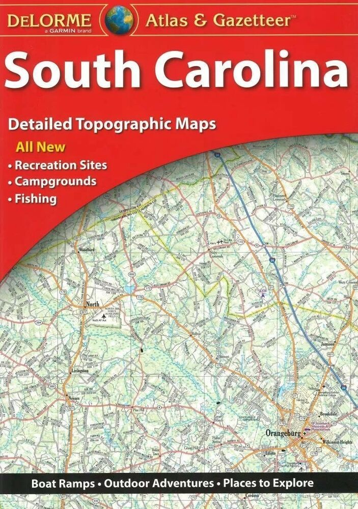 NEW Delorme South Carolina SC Atlas and Gazetteer Topo Road Map ...