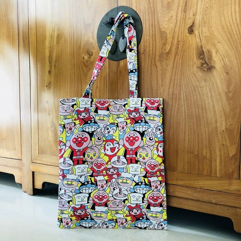b1db9f12d8 Details about anpanman red nose shoulder bag shopper bags lunch bag storage handbag  zip