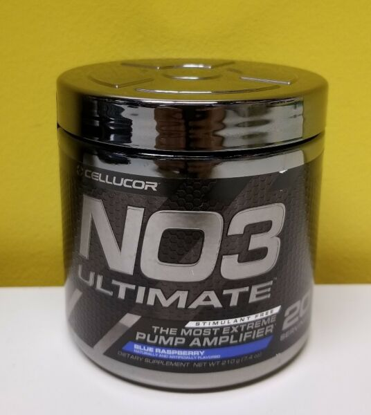 Cellucor NO3 Ultimate Pump Amplifier Dietary Supplement- Blue Raspberry. Sealed.