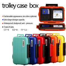24 Slots SD SDHC SDXC CF TF Memory Card Case Holder Waterproof Carrying Storage