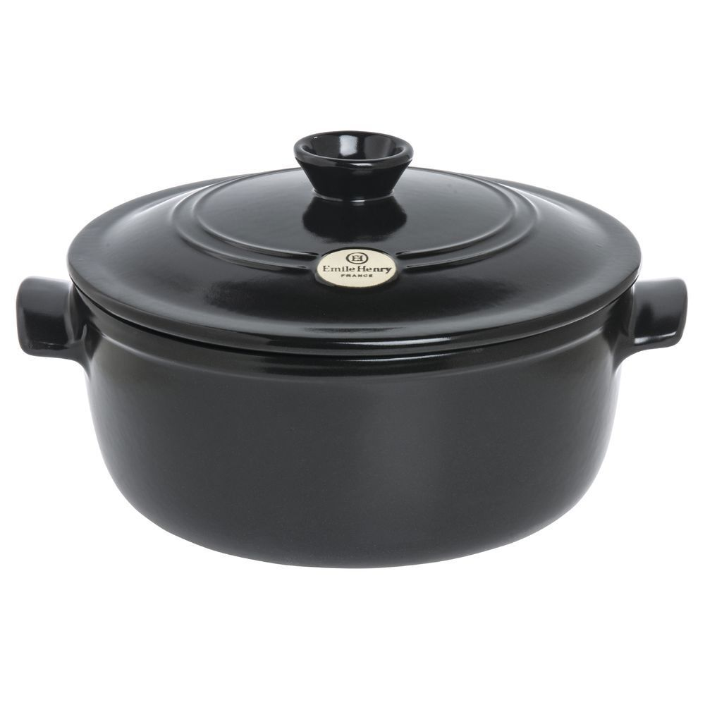 Emile Henry 794553 455379 Flame 5 1 2 Qt Round Charcoal
