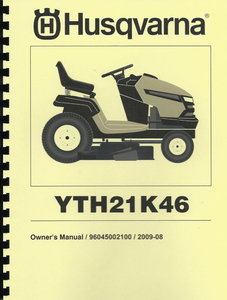 husqvarna yth21k46 lawn tractor owner s manual with parts list ebay rh ebay com Husqvarna Bagger Attachment Husqvarna Tractor Attachments