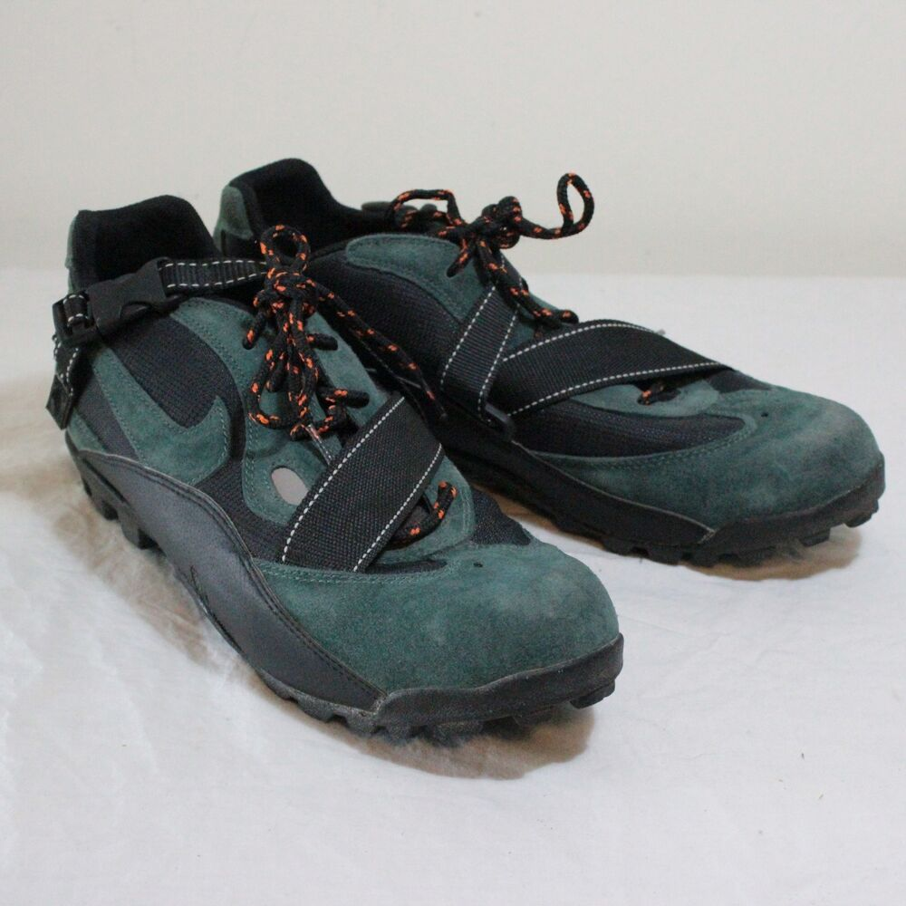 85f3024d172f99 Details about VTG NIKE ACG Green Leather Black Mountain Bike Cycling Shoes  Mens Sz 13 Pooh Bah