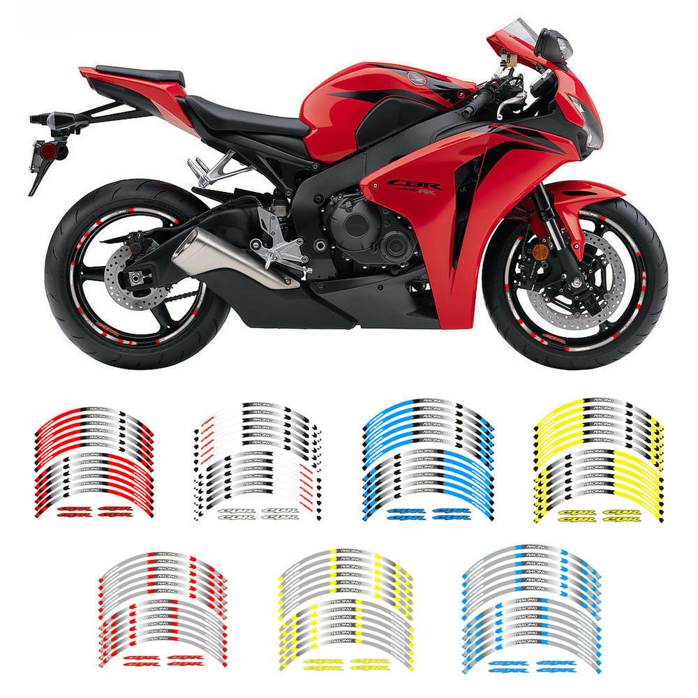 Details about fit for honda cbr motorcycle rim 17 stripes wheel decals tape stickers