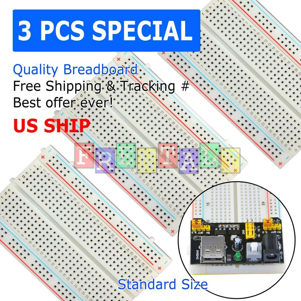 6pcs White Breadboard Syb 170 Tie Points Solderless Prototype Pcb Raspberry Pi Mini Circuit Board Ebay