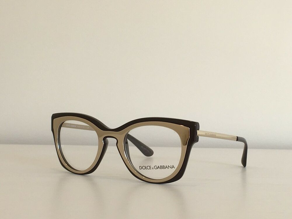 1277809a15c 1 Dolce   Gabbana DG 5020 3042 Cat Eye Brown Gold Eyeglasses Frame  48 21 140