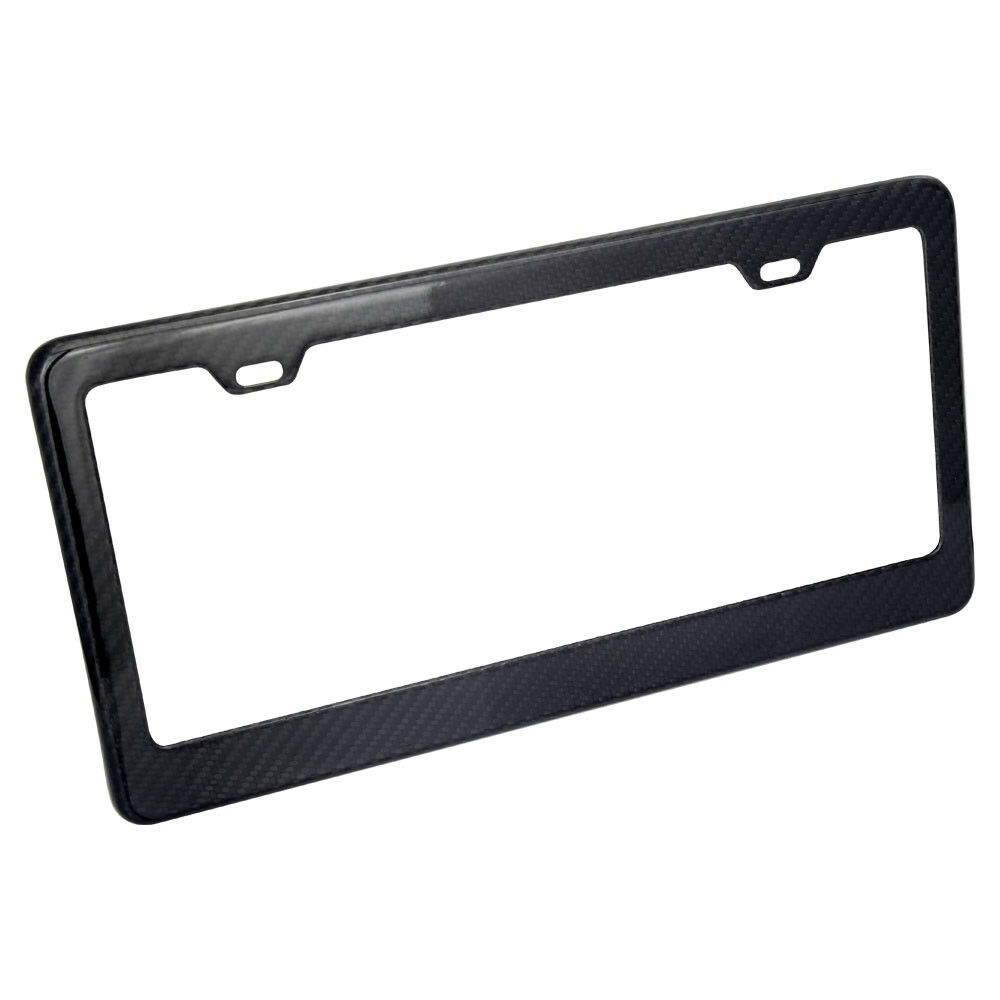 2 New 100/% Real Carbon Fiber License Plate Frame Tag Cover Luxury light weighted