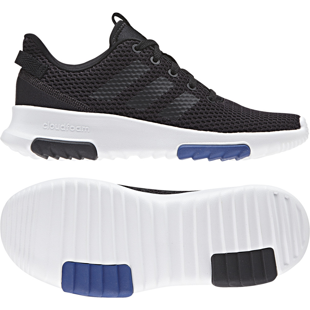 Details about Adidas Kids Shoes Cloudfoam Racer Running Boys Training Girls  Black DB1300 New dc969bc02
