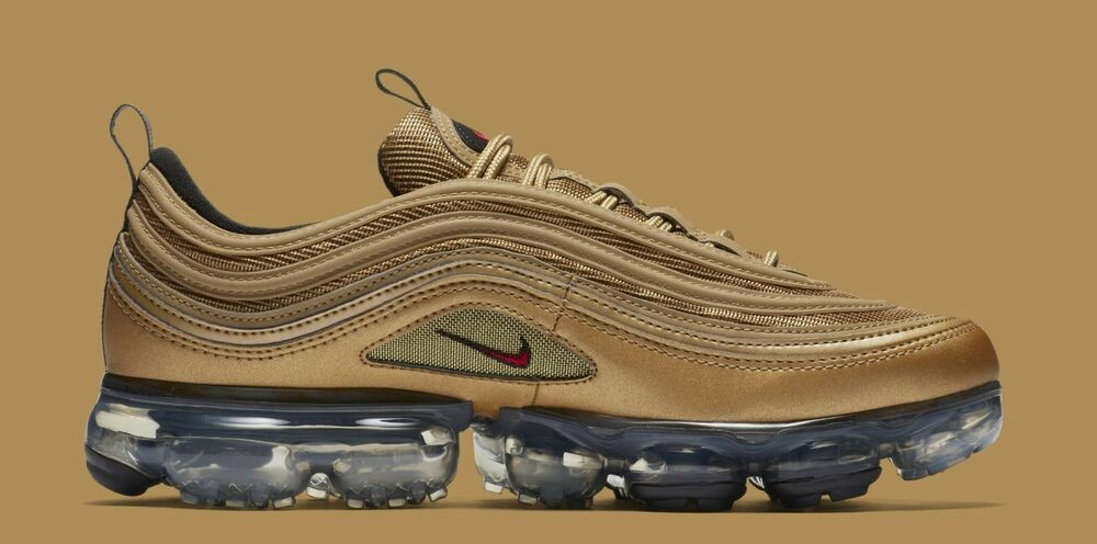 15b8fa779a241 Details about Nike Air Vapormax 97 size 8. Metallic Gold Varsity Red Black  White AJ7291-700
