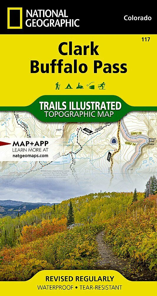 National Geographic Trails Illustrated Colorado Clark Buffalo Pass