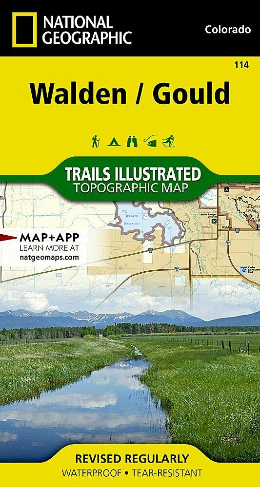 National Geographic Trails Illustrated Colorado Walden Gould Topo