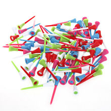 Approx. 100pcs 3 3/8 inch Rubber Cushion Top Plastic Golf Tees Accessories