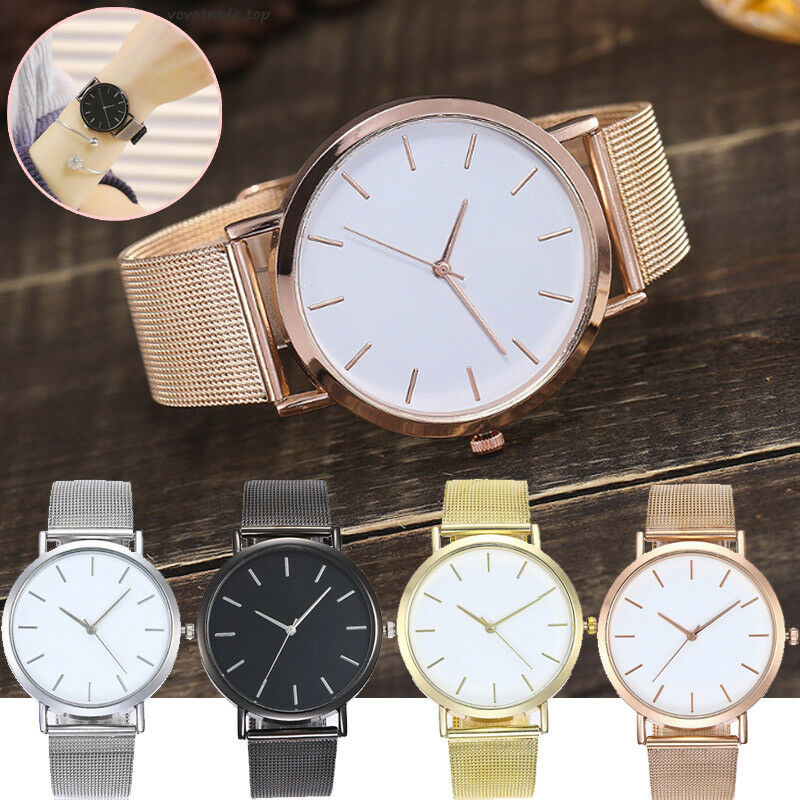 c123f8e23 Details about Women Stainless Steel Band Dress Watch Ladies Casual Analog  Wrist Watches Formal