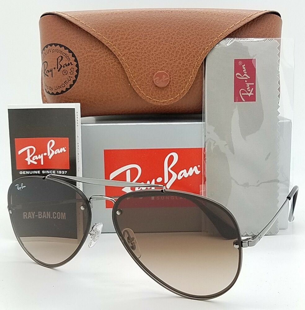 74c3e05307 Details about NEW Rayban Blaze Aviator sunglasses RB3584N 004/13 61mm Brown  Gradient AUTHENTIC