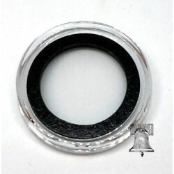 Air-Tite Coin Holder Capsule Storage Case Black Model A Ring Acrylic 10-20mm
