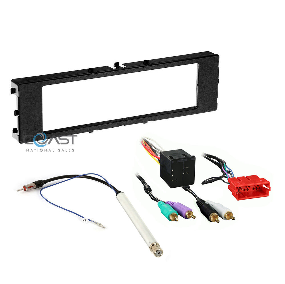 Car Radio Single Din Dash Kit Wire Harness For 1996