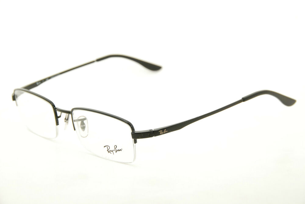 7fe1993fe2 Details about New Authentic Ray Ban RB 6178 2509 Black 53mm Half Rim Frames  Eyeglasses RX