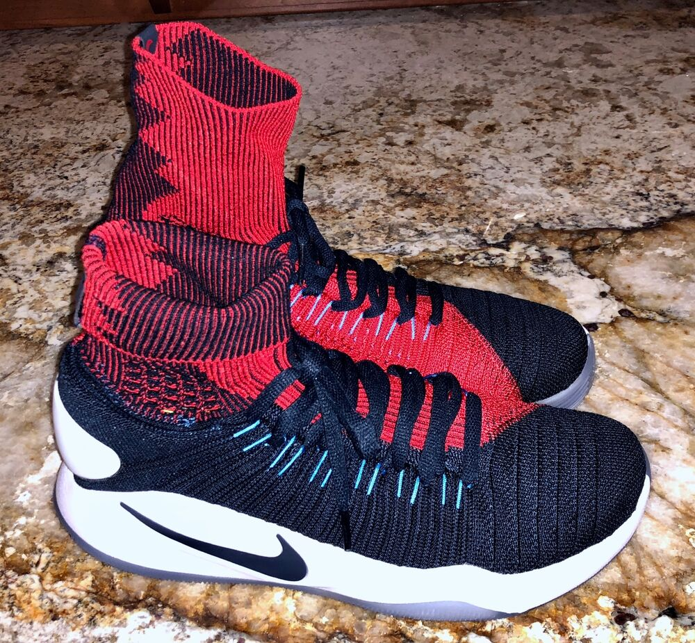 23dfecec9ea6dc Details about NIKE Hyperdunk 2016 Flyknit USA Blue Red Basketball Shoes NEW  Mens 7 7.5 8 11.5