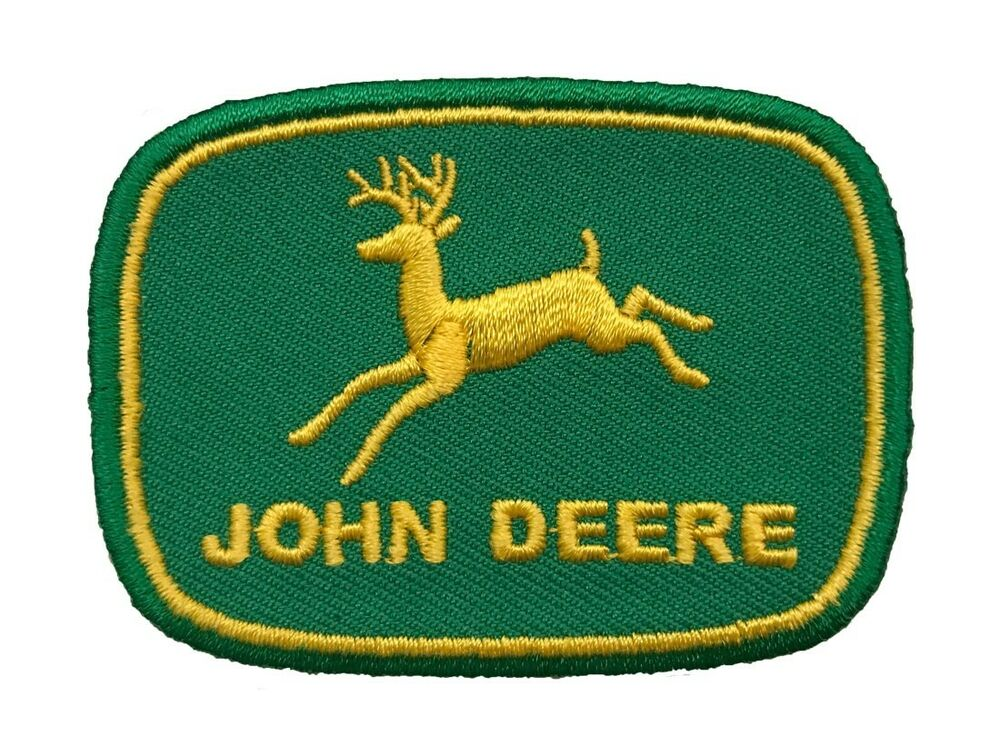 John Deere Embroidered Iron On Patch Ebay