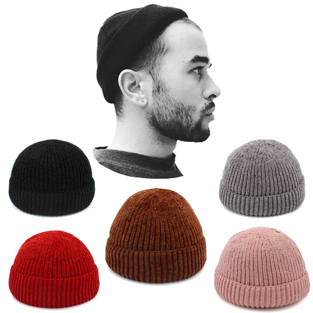 Details about Men Women Solid Soft Wool Beanie Skull Cap Miki Hat Knitted  Warm Winter Elastic fcac94e44d7