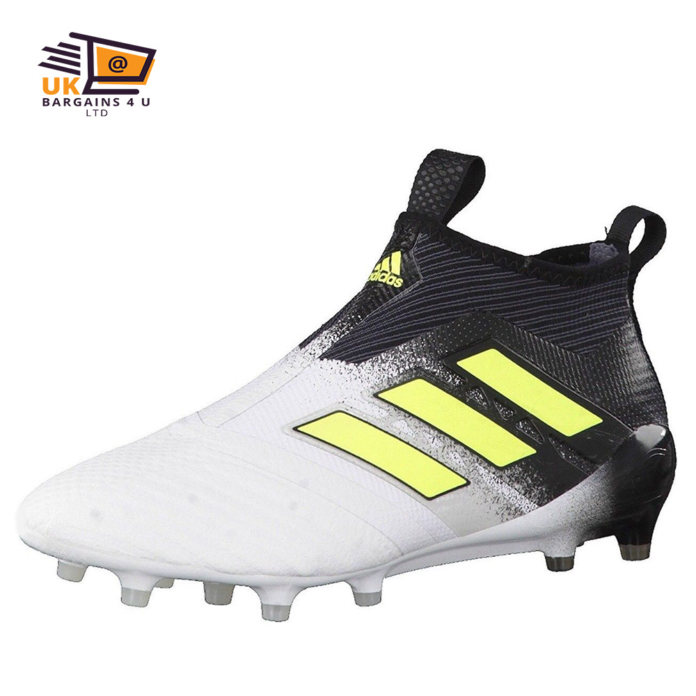 buy online a5b3b 8396c Details about Adidas-ACE 17+ Purecontrol Firm Ground Boots-Men White Solar  Yellow Core Black