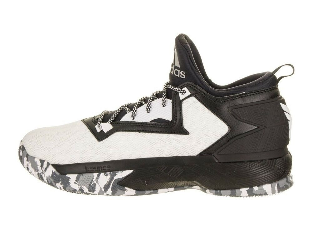 finest selection 8cae3 119be Details about Mens Adidas D Lillard 2 Basketball Shoes Size 9.5 - 15 Black  White B42376 Damian