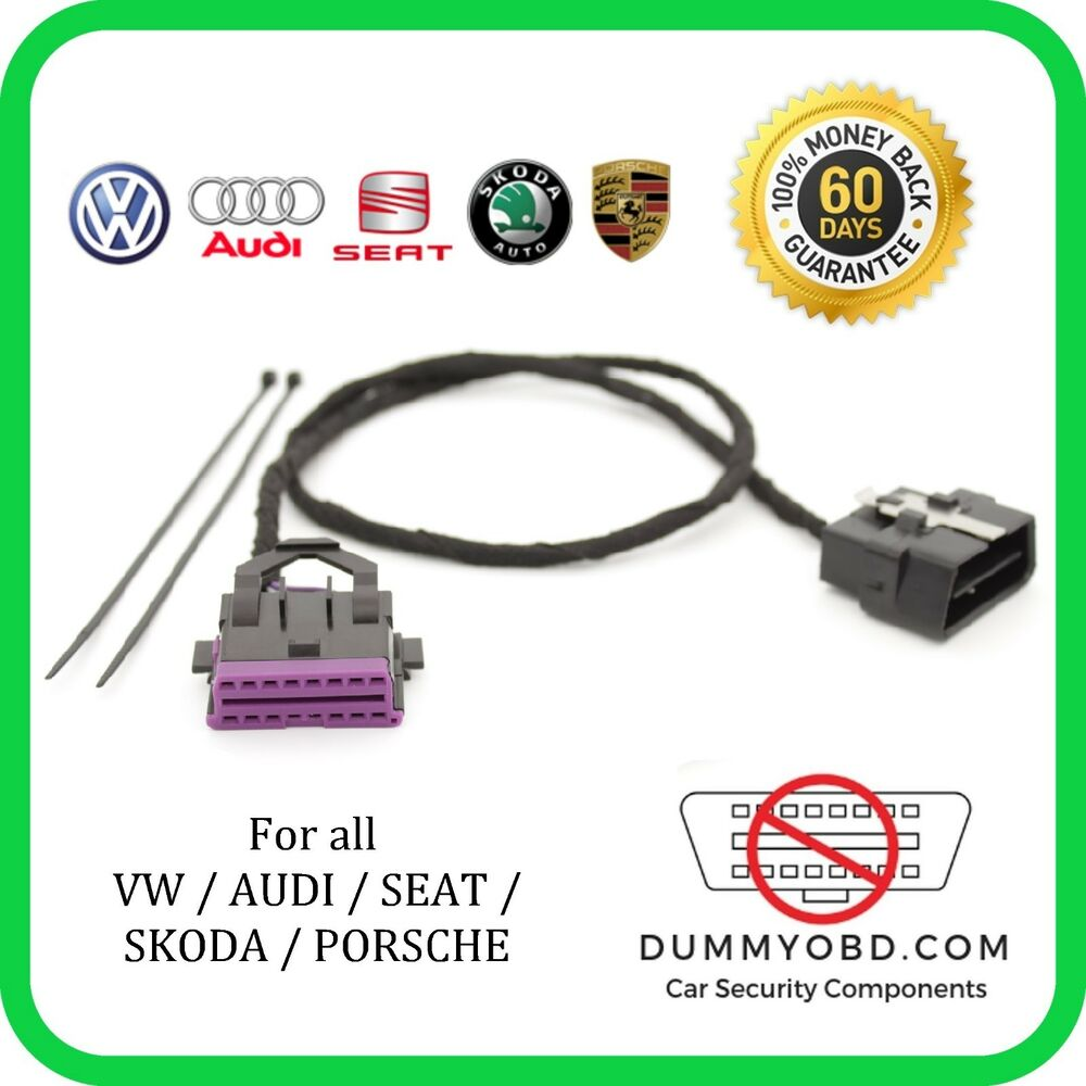 security vw audi skoda dummy fake obd port anti theft security obd guard  lock vehicle parts