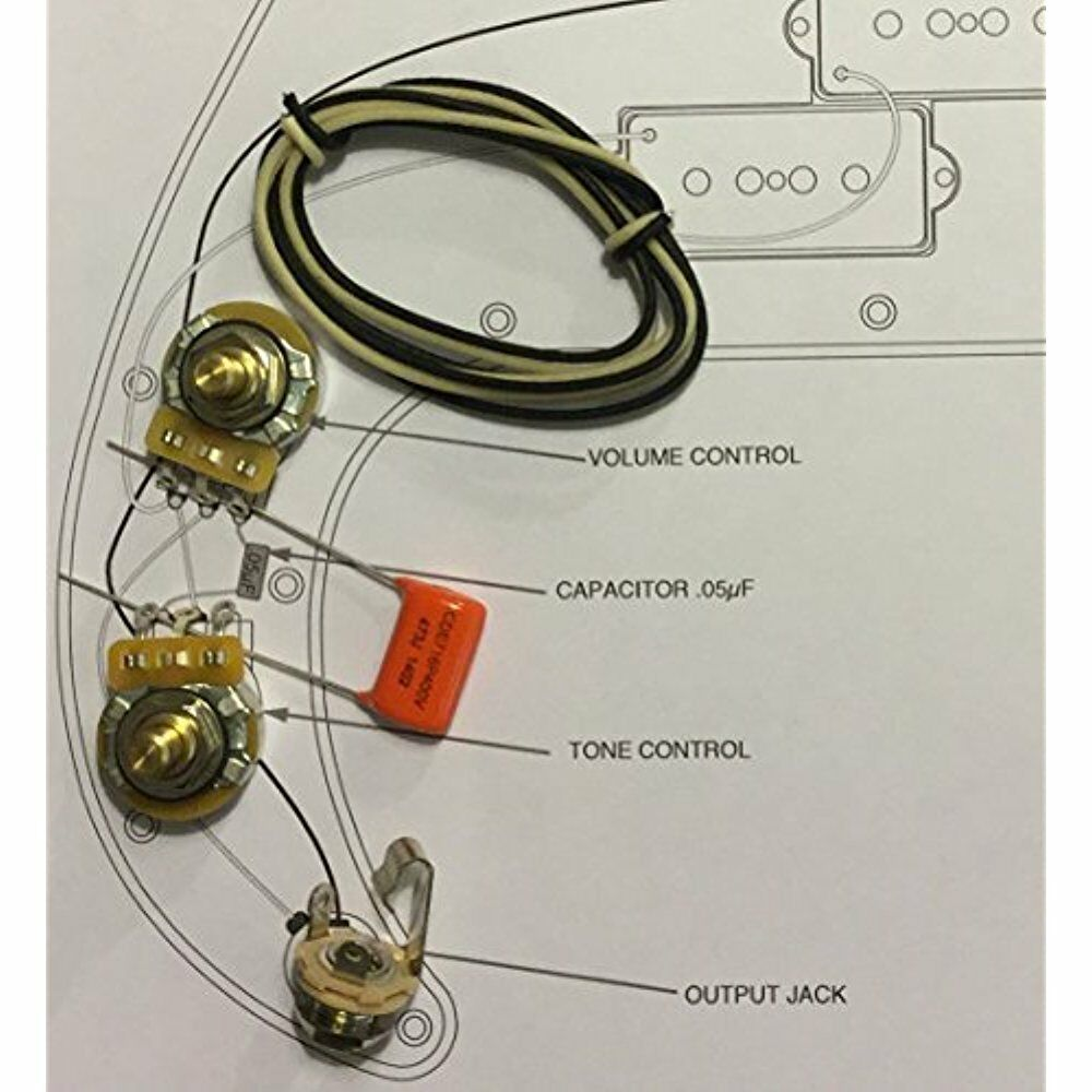 TAOT Wiring Electric Guitar Parts Kit - Fender Precision Bass P-Bass Orange  Drop 720189710070 | eBay