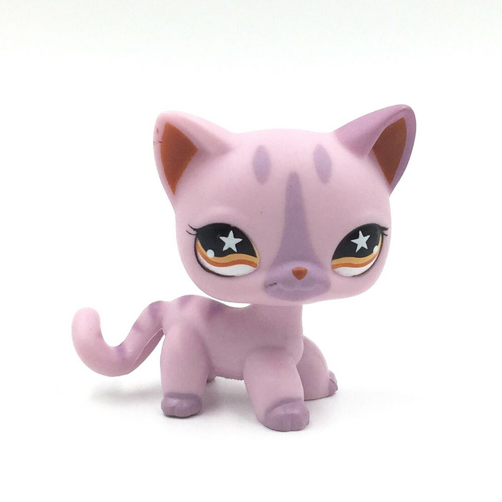 Littlest Pet Shop Toys LPS Cat #933 Purple Kitty With