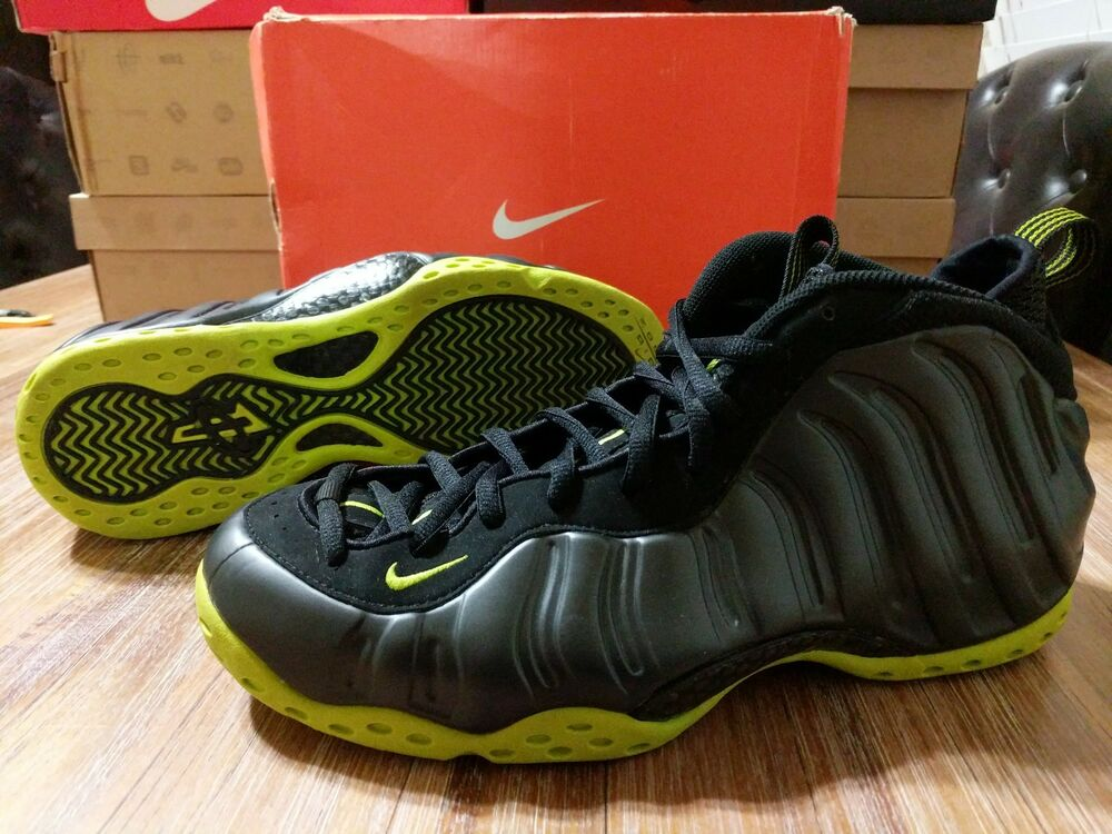 490f157335f Details about Nike Air Foamposite One 1 Vintage Black Bright Cactus CLEAN  2007 size 11.5