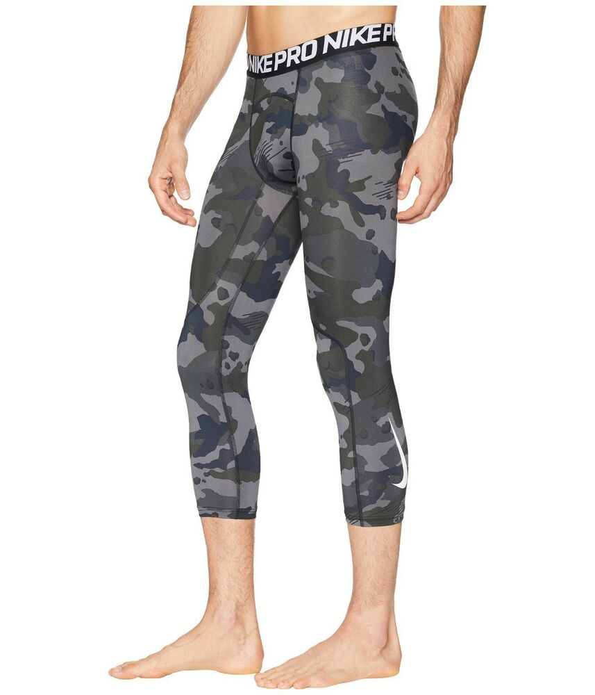 competitive price 8a034 db74a Details about NIKE PRO Camo COMPRESSION 3 4 TIGHTS MEN s S M L XL 2XL Cross  Training Football
