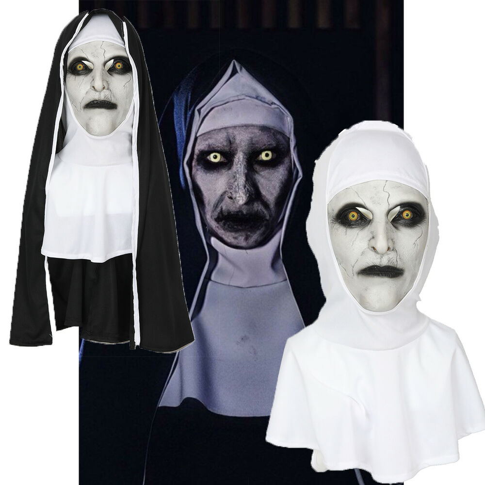 the nun cosplay mask costume prop helmet valak halloween scary