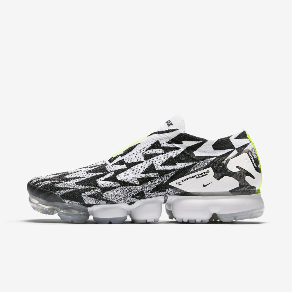 3f1dd82dae02d Details about Nike Air Vapormax FK Moc 2 ACRONYM Black White MENS Size 4.5  AQ0996 001 WOMENS 6