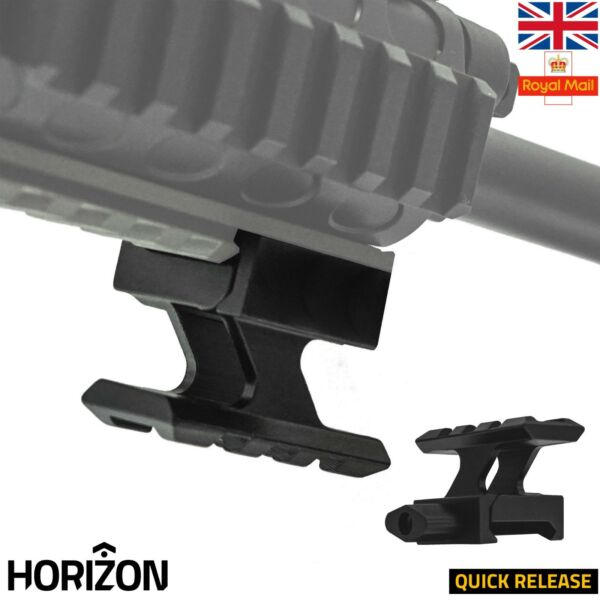 HORIZON Scope Riser Rail Mount Quick Release 30mm 20mm Picatinny Weaver Rail