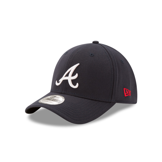 e7de09a9904 Details about Atlanta Braves A New Era MLB 39THIRTY Team Classic Stretch  Flex Cap Hat 3930