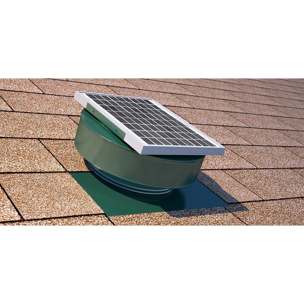 Active Ventilation Exhaust Attic Fan 365 CFM 5 Watt Solar ...