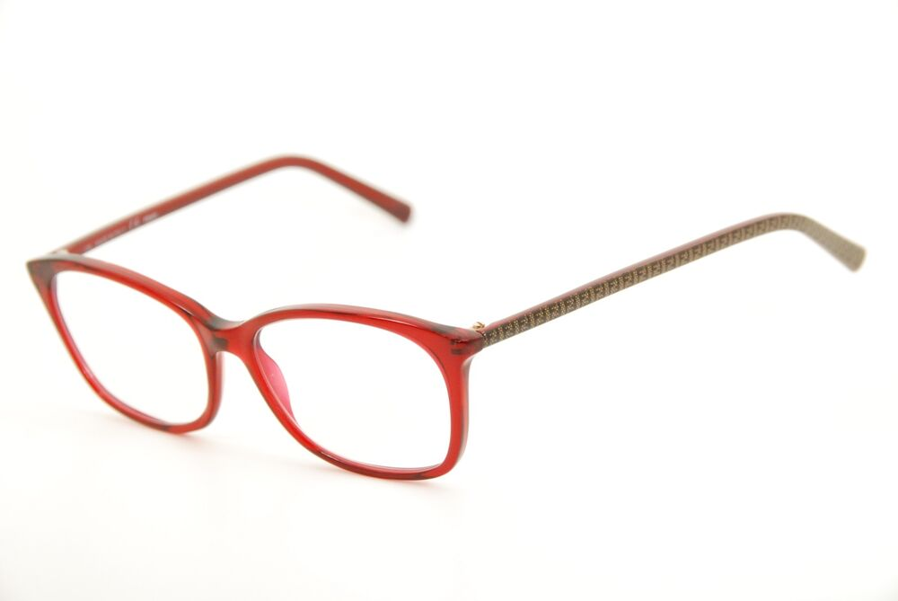 effc87ebb3 Details about New Authentic Fendi F 1020 615 Red Brown Print 51mm  Eyeglasses Frames Italy RX