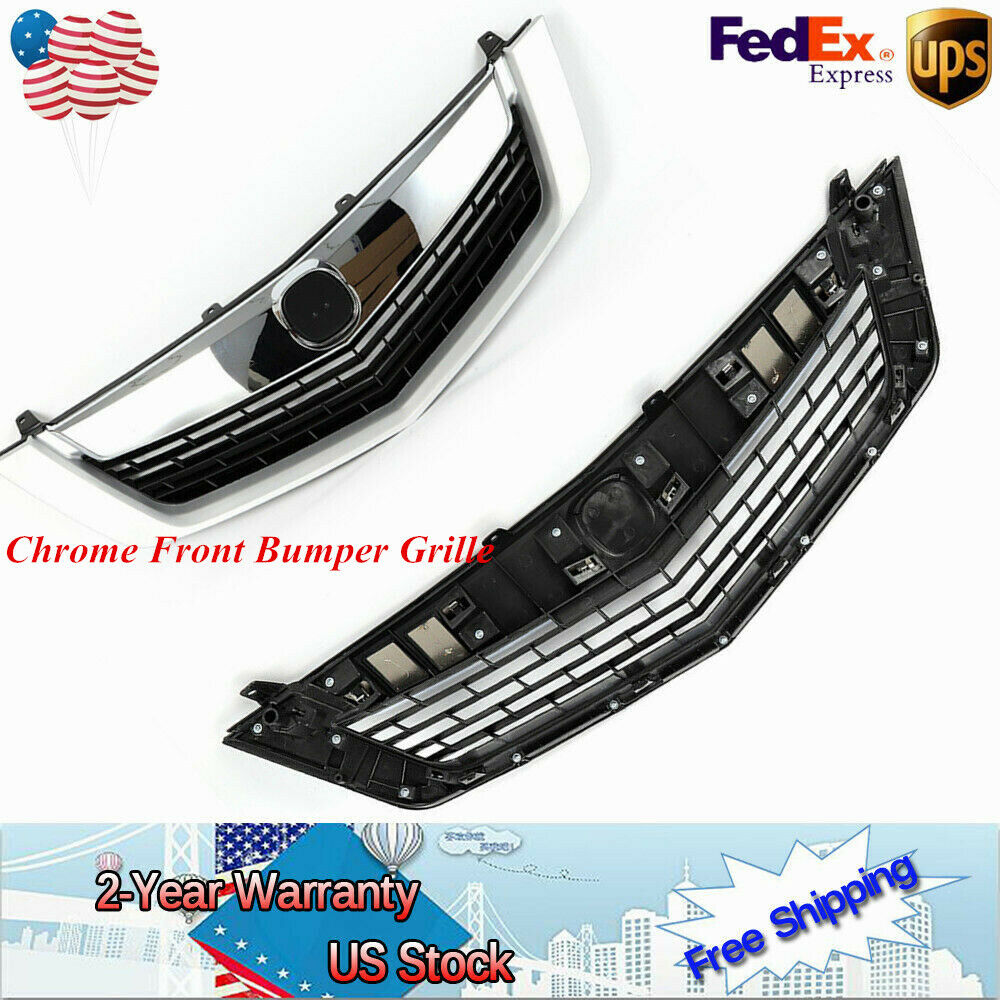 For ACURA TSX 2009 2010 Chrome Front Bumper Grille Mesh